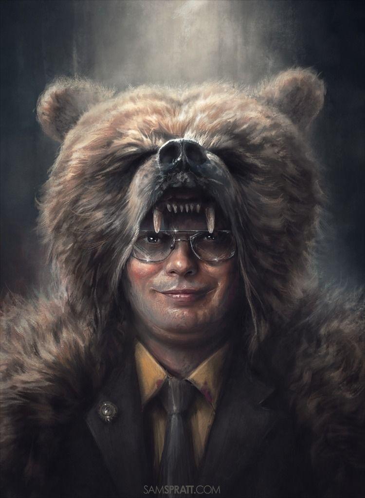 Dwight Schrute Bears Beets Battlestar Galactica Sam Spratt