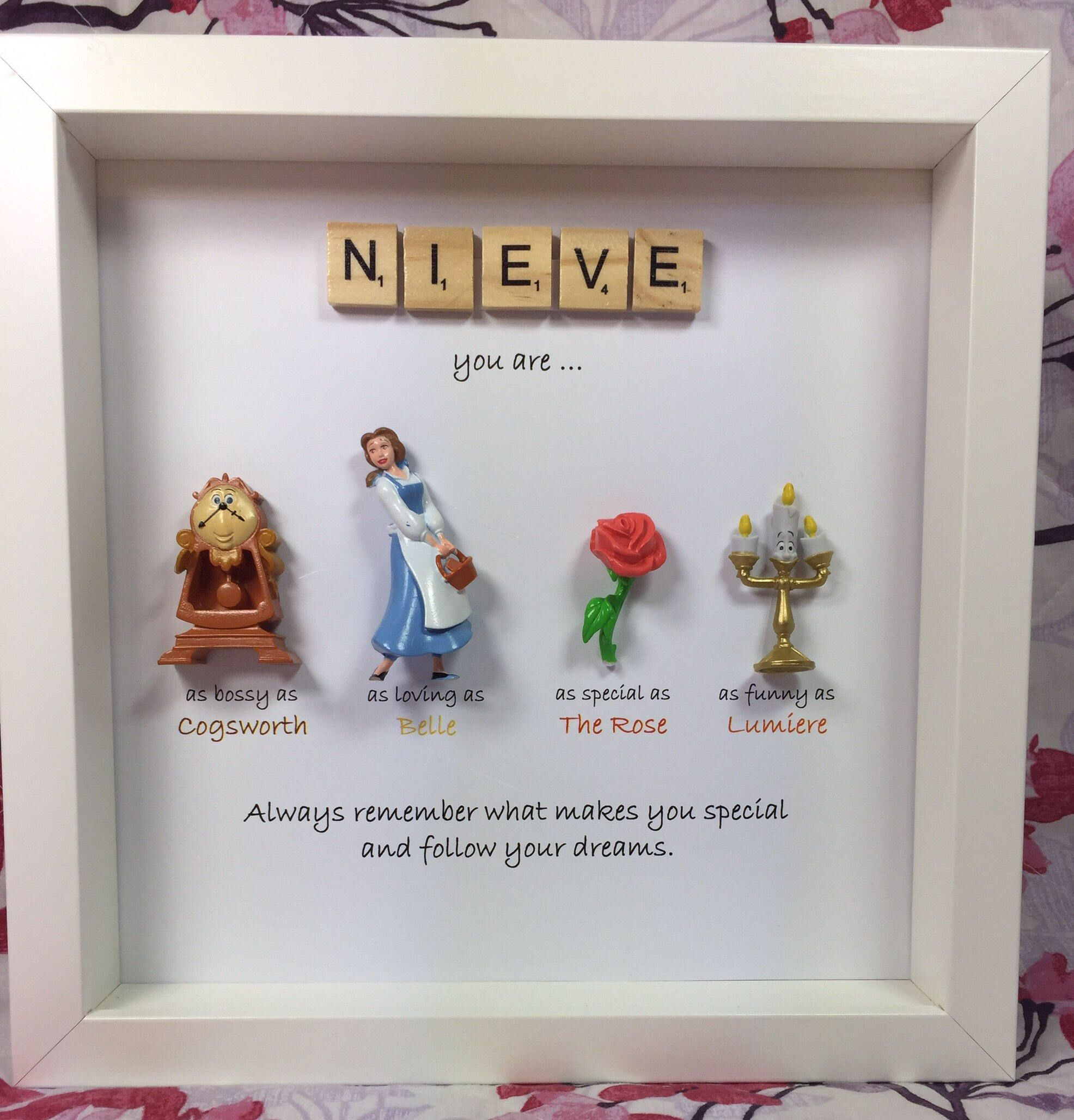Disney Beauty And The Beast Frame Perfect Mum Sister Daughter