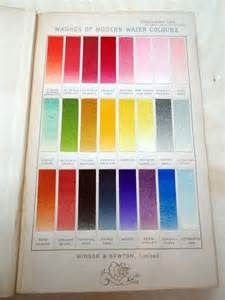 Painted Individual Paint Chips In Watercolor Charts By Winsor