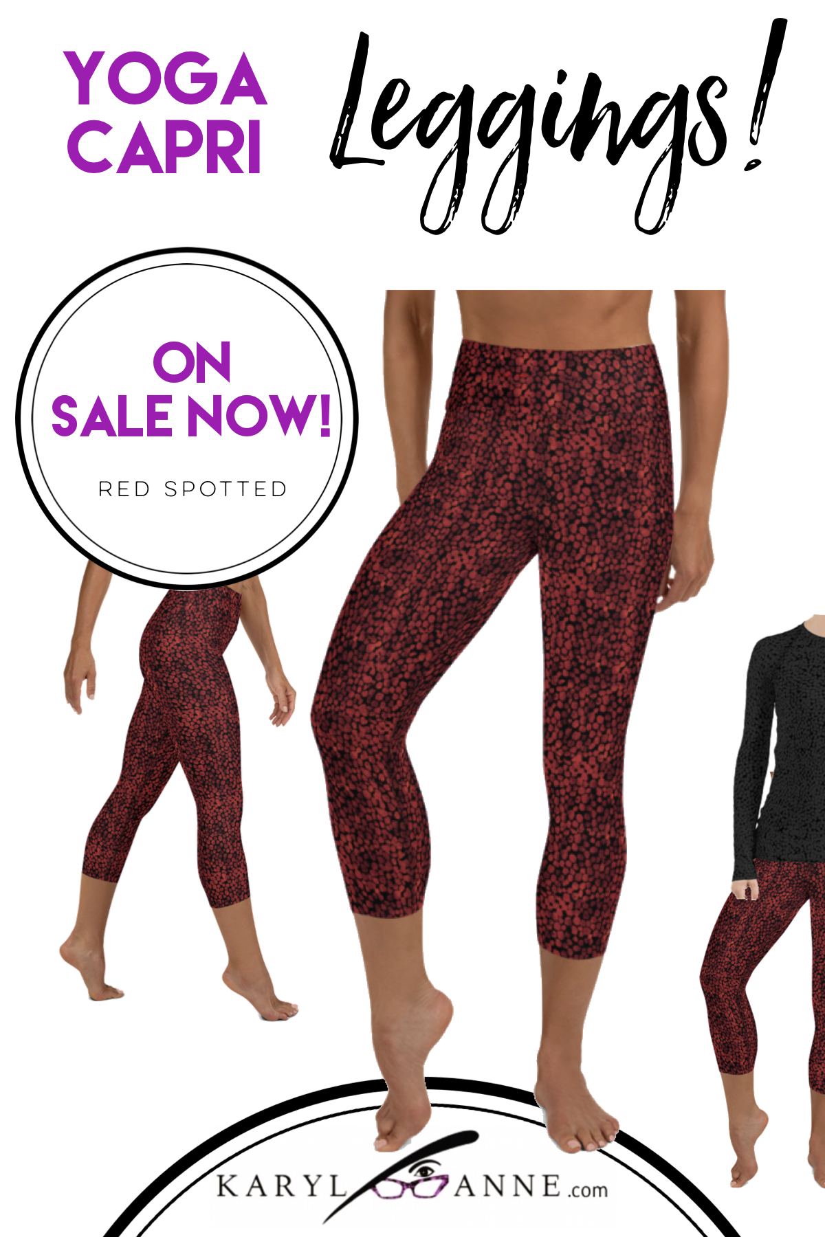 Women's sizes XS thru XL. Yoga Capri Leggings that are soft, rich, comfortable and classy enough for...