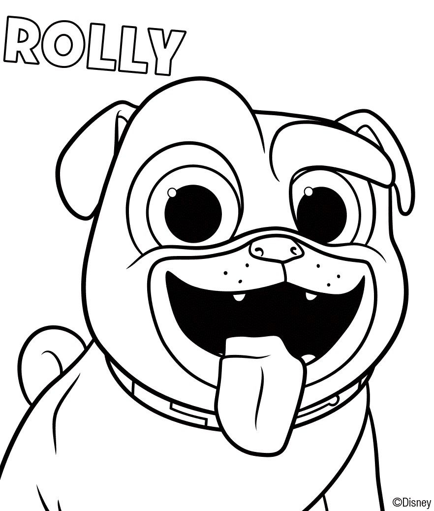 Puppy Dog Pals Coloring Sheets Rolly - ScribbleFun  Puppy