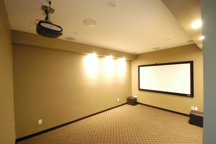 Media Room Projector Austin Texas