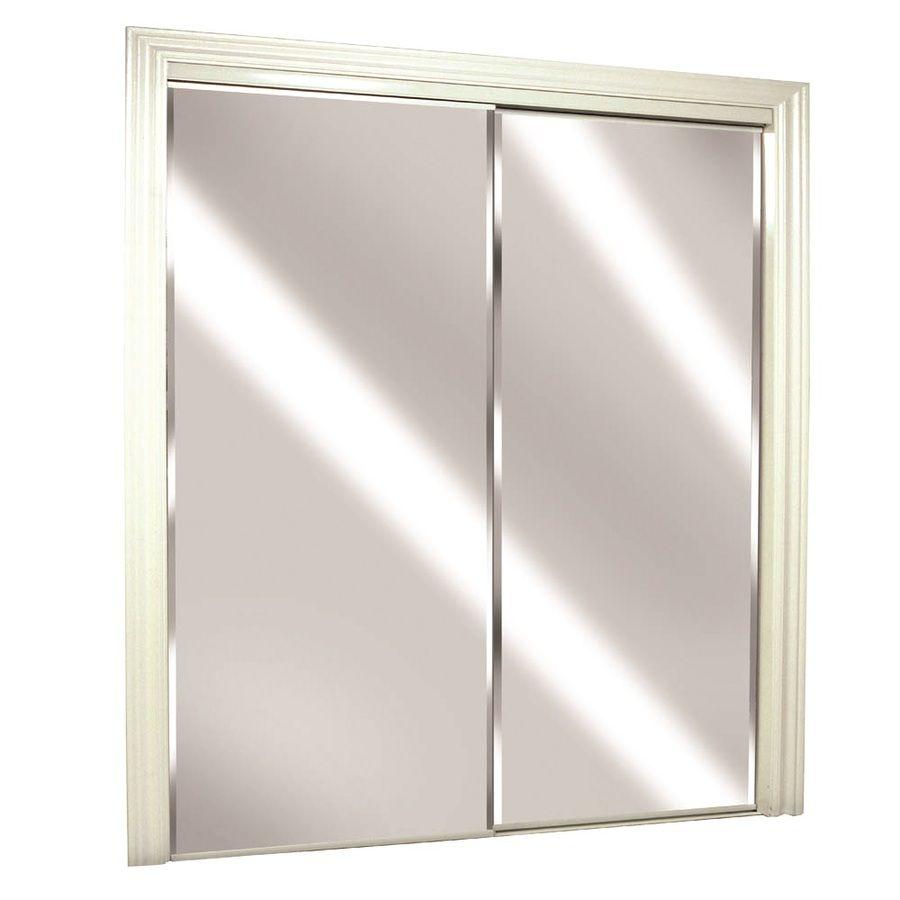 Superbe ReliaBilt Flush Mirror Sliding Closet Interior Door (Common: 60 In X 80 In;  Actual: 60 In X 78 In)