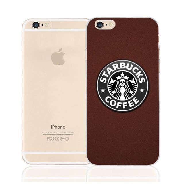 fe9612e1608 Starbucks coffee Pattern TPU Transparent Phone cases For iPhone 5S SE 5 5C  6 6S 7 7Plus fundas capa - Transparent Iphone 6 Case - Sales of Transparent  ...