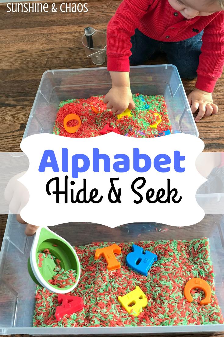 Alphabet Hide & Seek | Alphabet activities preschool, Alphabet activities, Preschool activities