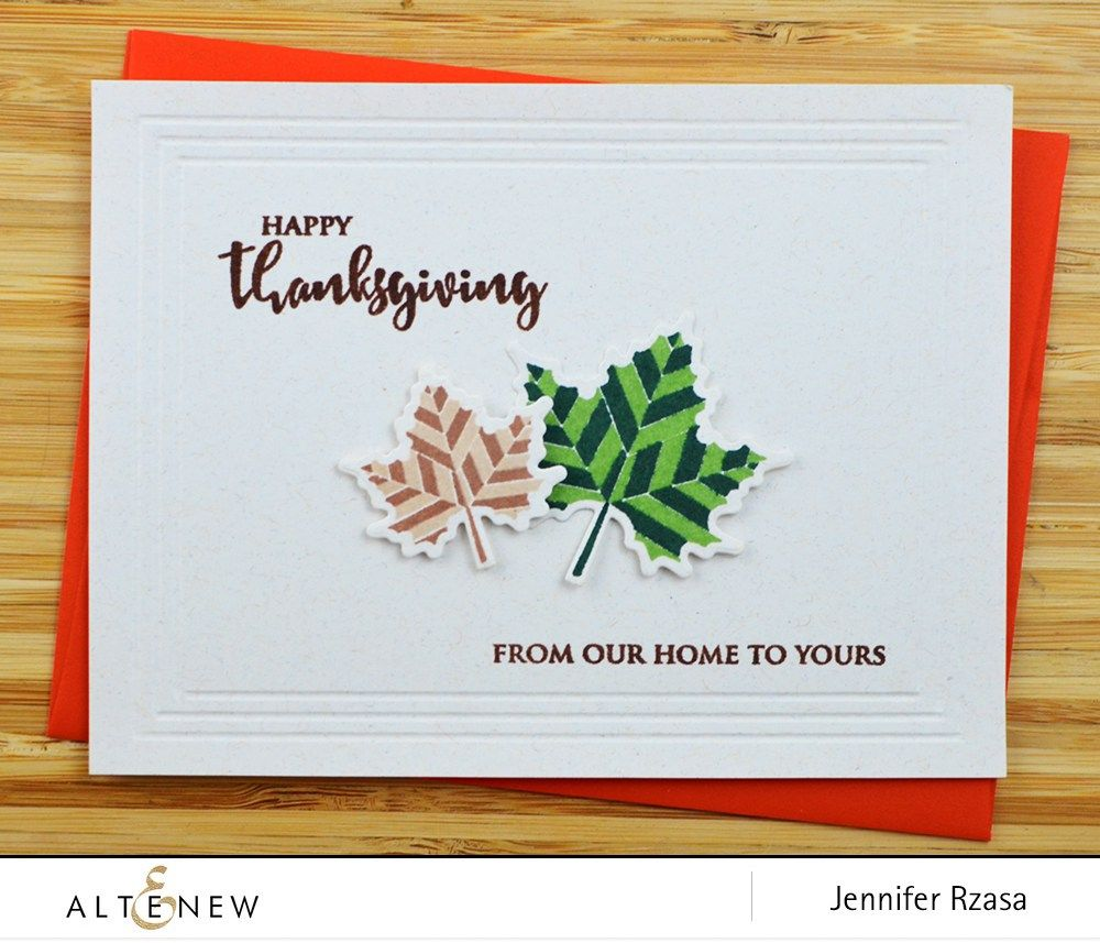 Happy Thanksgiving handmade card using With Gratitude stamp and die ...