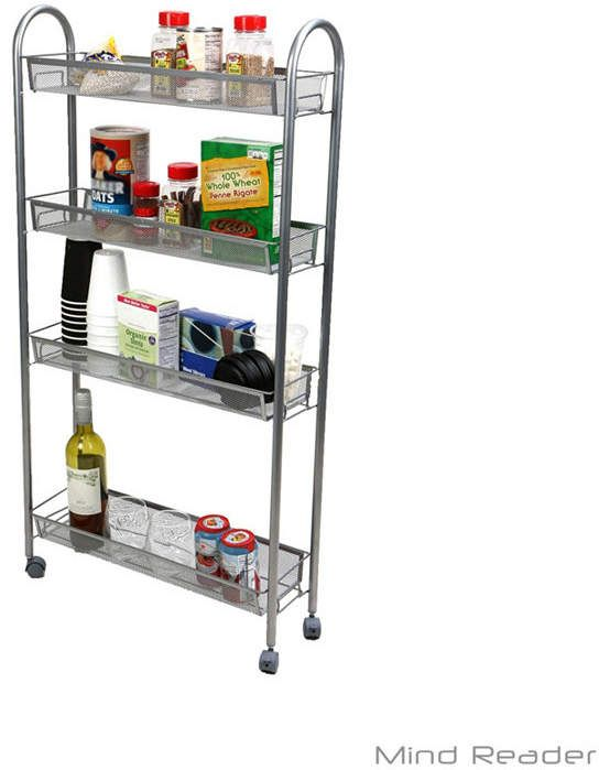 Mind Reader 4 Tier Slim and Tall Kitchen Trolley Utility All ...