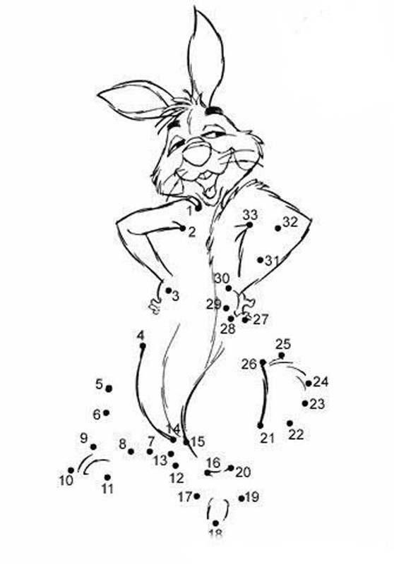 Pets Dot To Dot Dot To Dot Rabbit Connect The Dots Game Dots Coloring Pages
