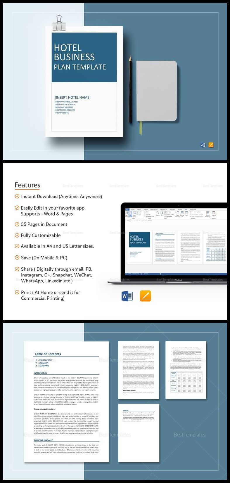 Hotel Business Plan Template Business plan template