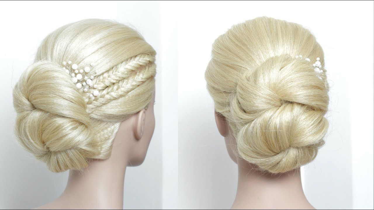 Easy prom wedding updo hairstyles for long medium hair youtube