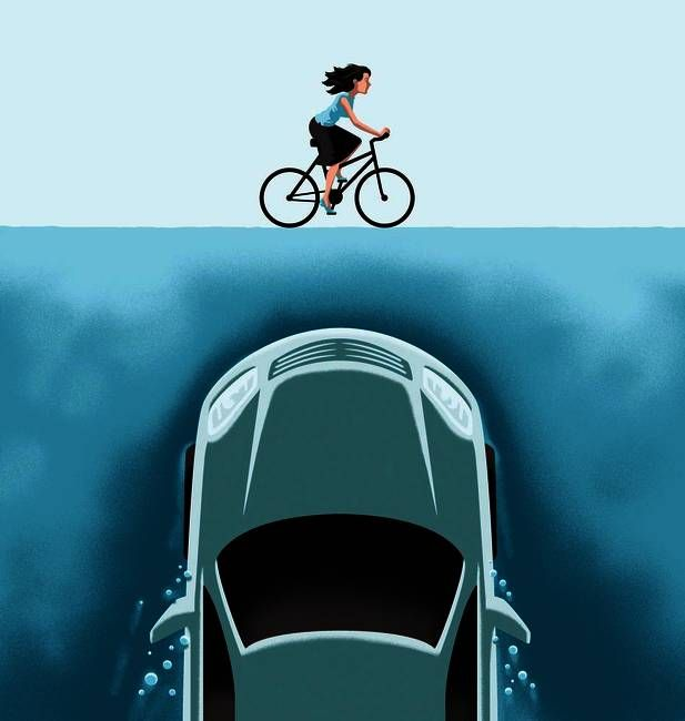 Bike Safety by: Christoph Niemann -Repinned by Totetude.com