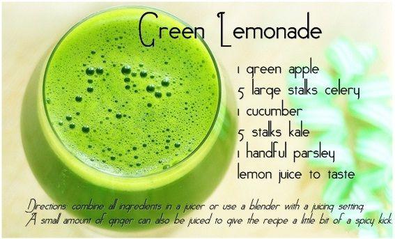 Drink #Green Lemonade #Juice