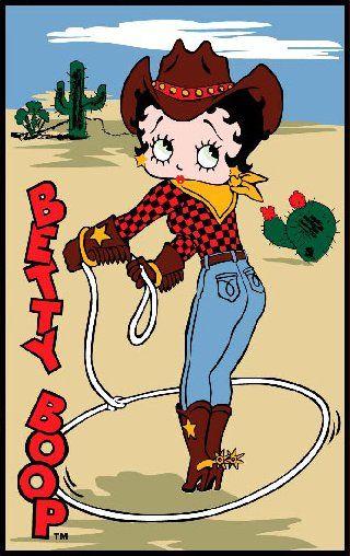 Betty Boop Rug X Western Cow
