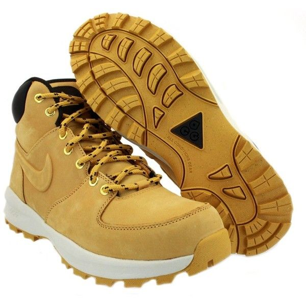 Nike Manoa ACG Mens Boots Tan ($6.66) ❤ liked on Polyvore featuring men's  fashion