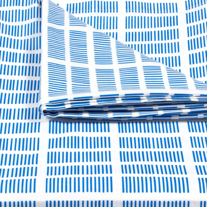 Tile Extra Wide Organic Oilcloth In Blue 100 Organically Grown Cotton  Printed And Coated With Acrylic