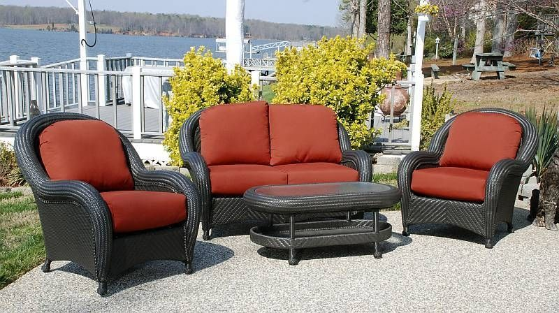 Resin Patio Furniture Clearance Cayman Weatherproof Wicker Set