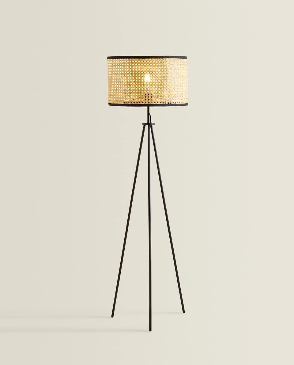 Bild 2 Des Produktes Stehlampe Aus Rattan Zara Home Stehlampe