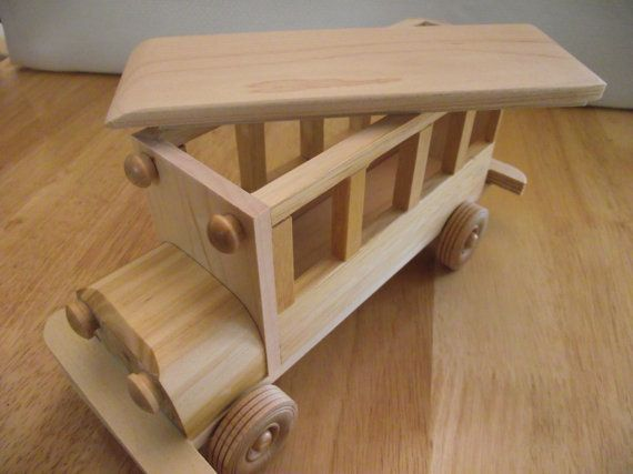 Reclaimed Wooden Removable Top Toy Bus For Children Kids
