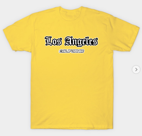 Los Angeles California Collection T Shirt Nel 2020