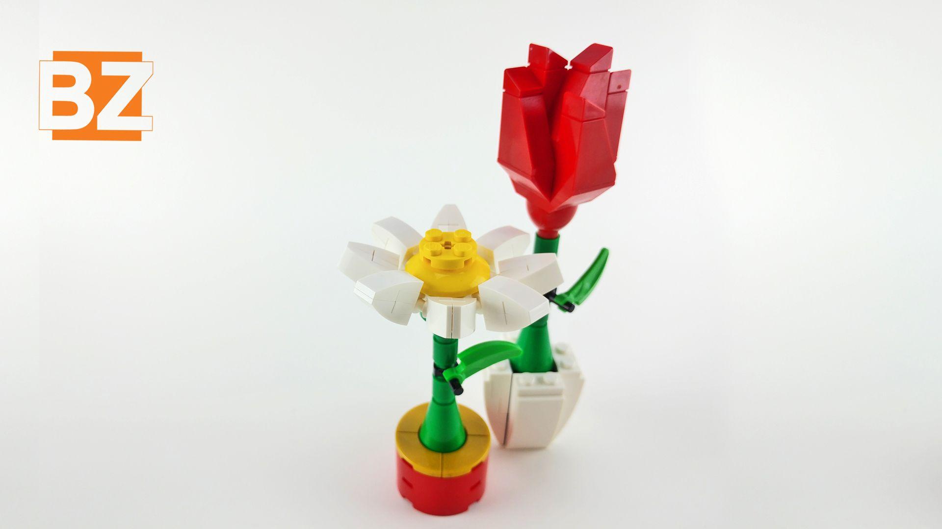 NEW great gift valentine mother LEGO Rose Flower Custom model