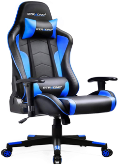 Check Gtracing Gaming Chair With Bluetooth Speakers Music Video Game Chair Gt890m Blue At Top 10 Best And Cheap In In 2020 Desk Chair Gaming Chair Computer Desk Chair
