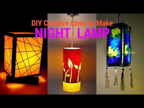 Diy Creative Ideas To Make Night Lamp Recycle Paper Reuse