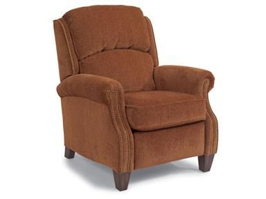 Accents Whistler High Leg Recliner With Nail Head Trim By Flexsteel At  Wayside Furniture