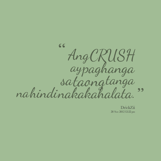 Meaning of crush in tagalog