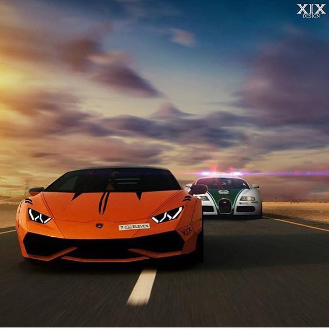 """Lamborghini Bugatti: Arabgarage On Instagram: """"Dubai Police Bugatti Chasing"""
