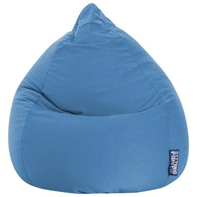 Exceptional Freeport Park Microfiber Fabric Bean Bag Chair Upholstery: Blue