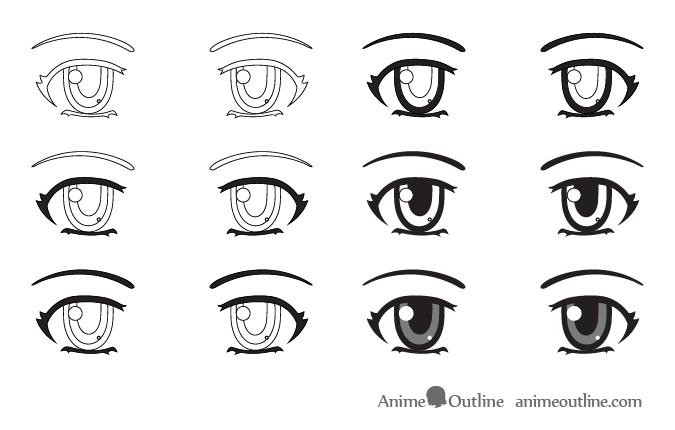 Shading Anime Eyes Step By Step Eye Drawing Anime Eyes How To Draw Anime Eyes