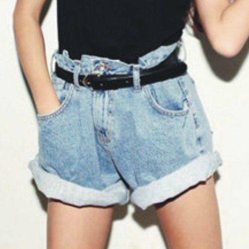 ladies baggy denim shorts
