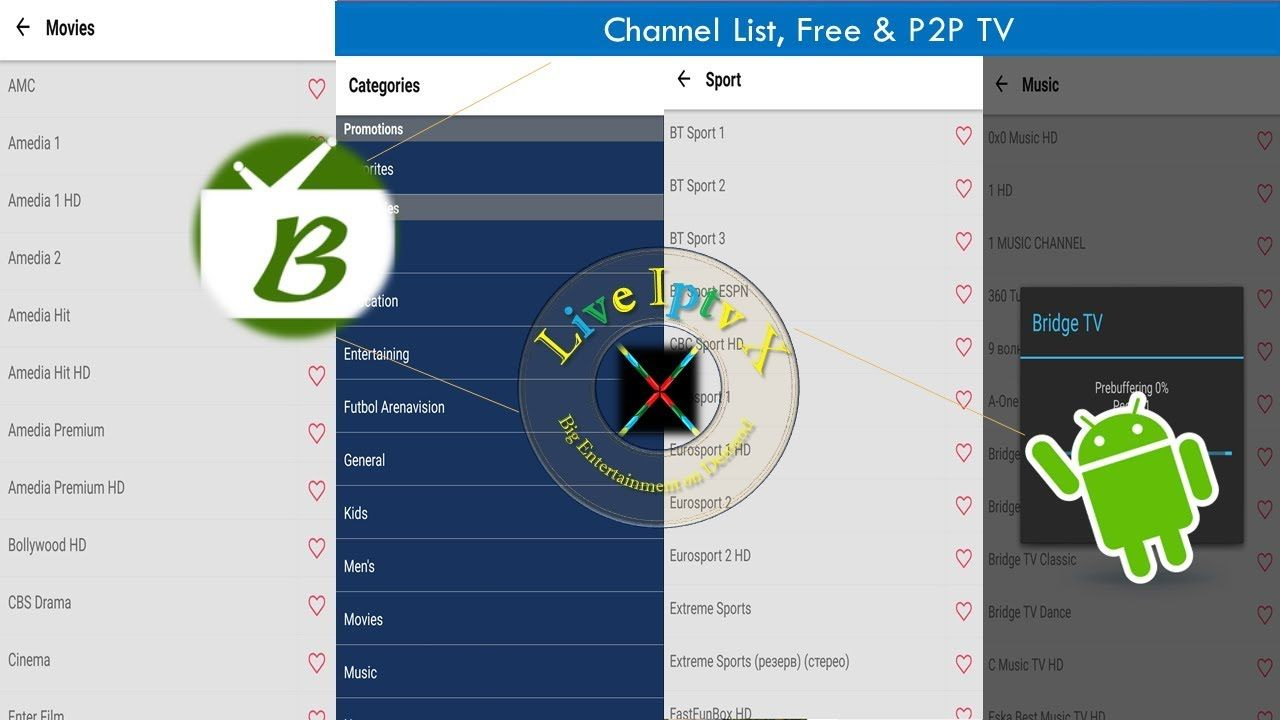 Bive TV Channel List Free & P2P TV APK For Live TV