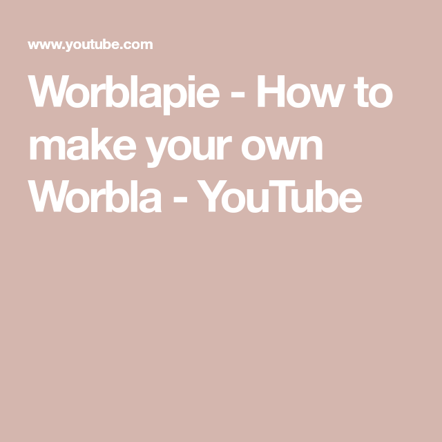 Worblapie - How to make your own Worbla - YouTube #howtodisguiseyourself