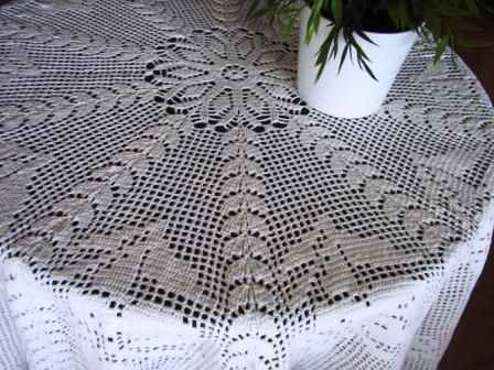 Patrones de manteles redondos tejidos a crochet imagui - Mantel de crochet ...