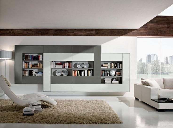 White U0026 Grey Bookcase   Modern Home Furniture To Add Variety In Your Room.