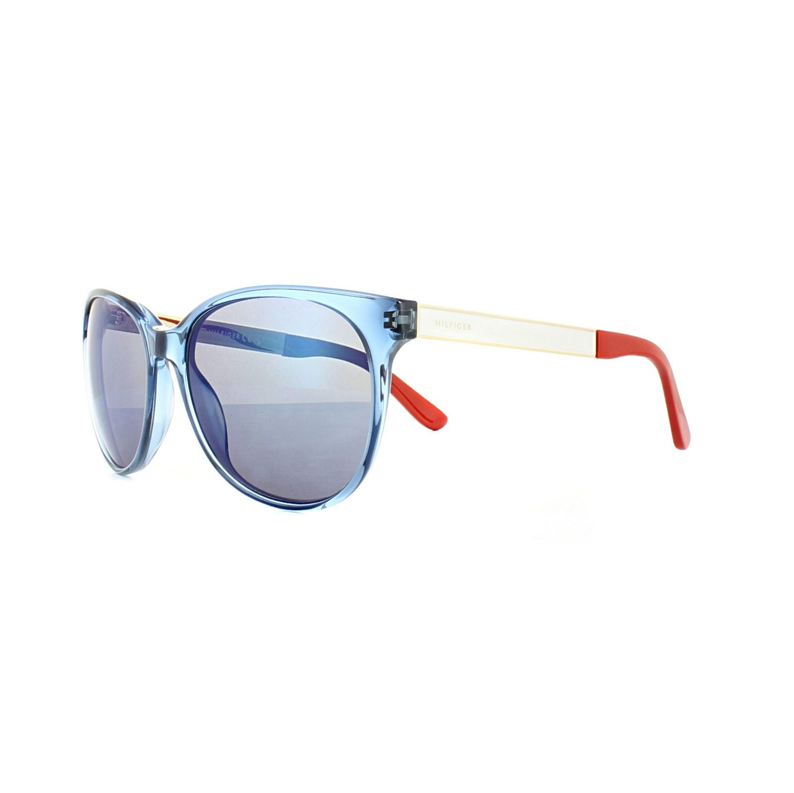 Tommy Hilfiger Sunglasses Th 1320 S 0h9 Xt Transparent Blue White Blue Mirror Blue Mirrors