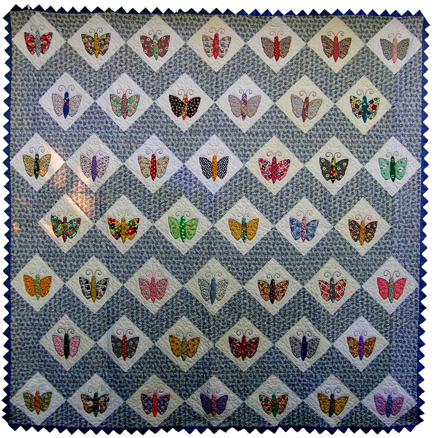 butterfly quilts   Appliqued Butterfly Quilt   }!{ Butterfly ... : appliqued quilts - Adamdwight.com