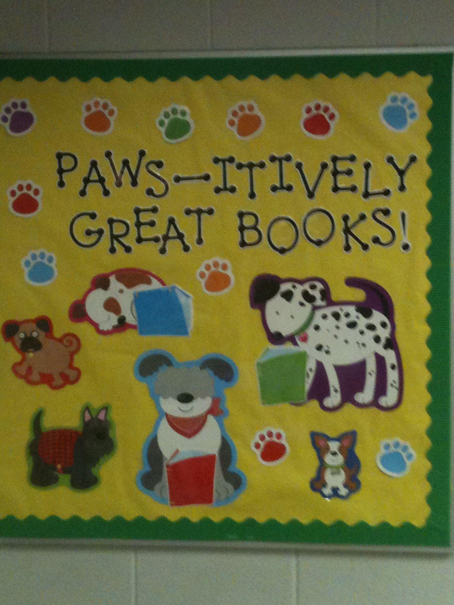 Reading bulletin board with dog theme school ideas for Theme board ideas