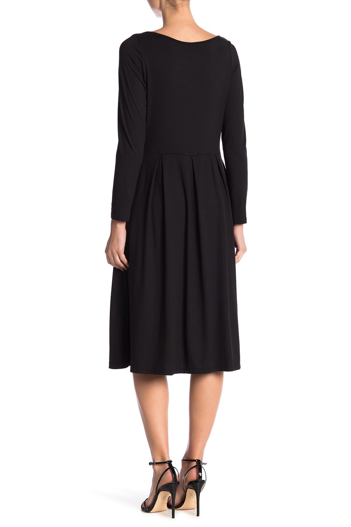 416d644d02 Long Sleeve Fit and Flare Midi Dress (Plus Size Available) by 24 7 Comfort  on  nordstrom rack