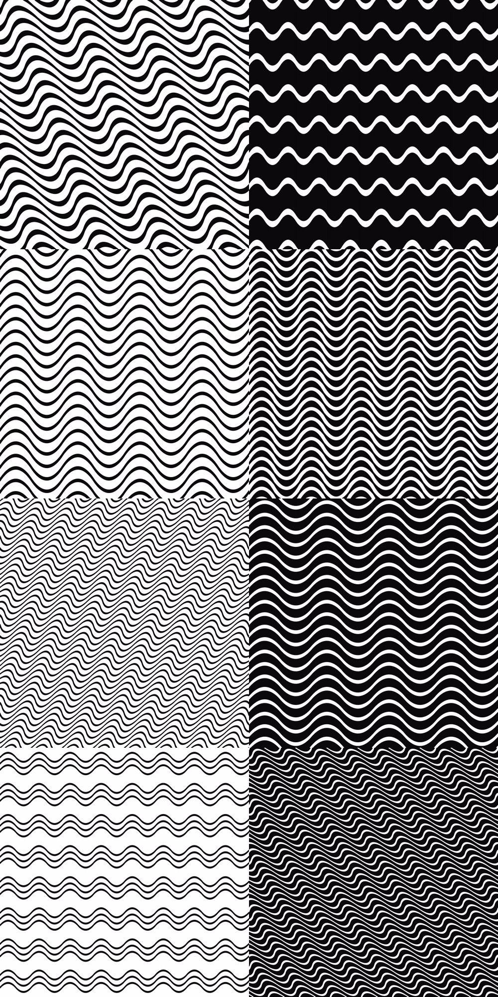 21 Seamless Monochrome Wave Line Pattern Backgrounds Background Patterns Monochrome Pattern Line Patterns