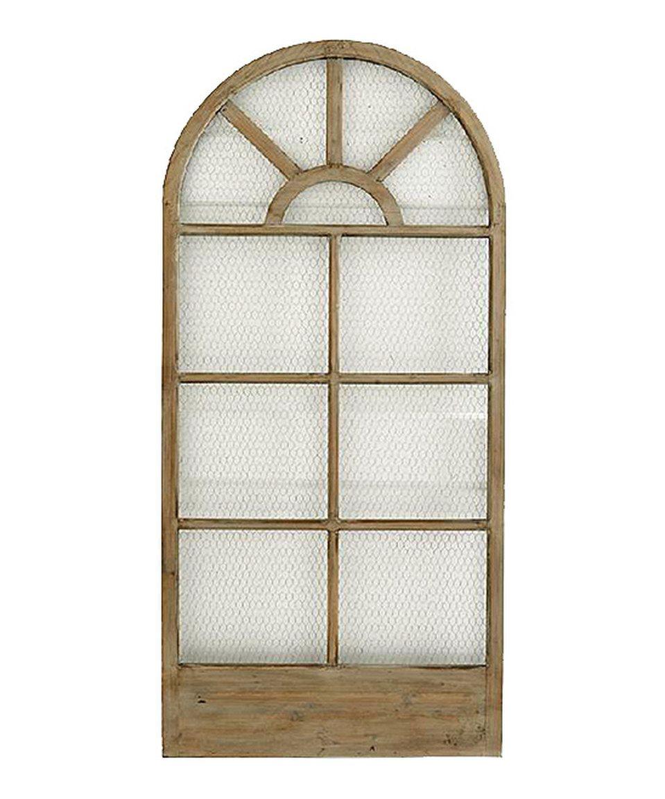 This Wood & Metal Mesh Window Frame Wall Art by K&K Interiors is ...