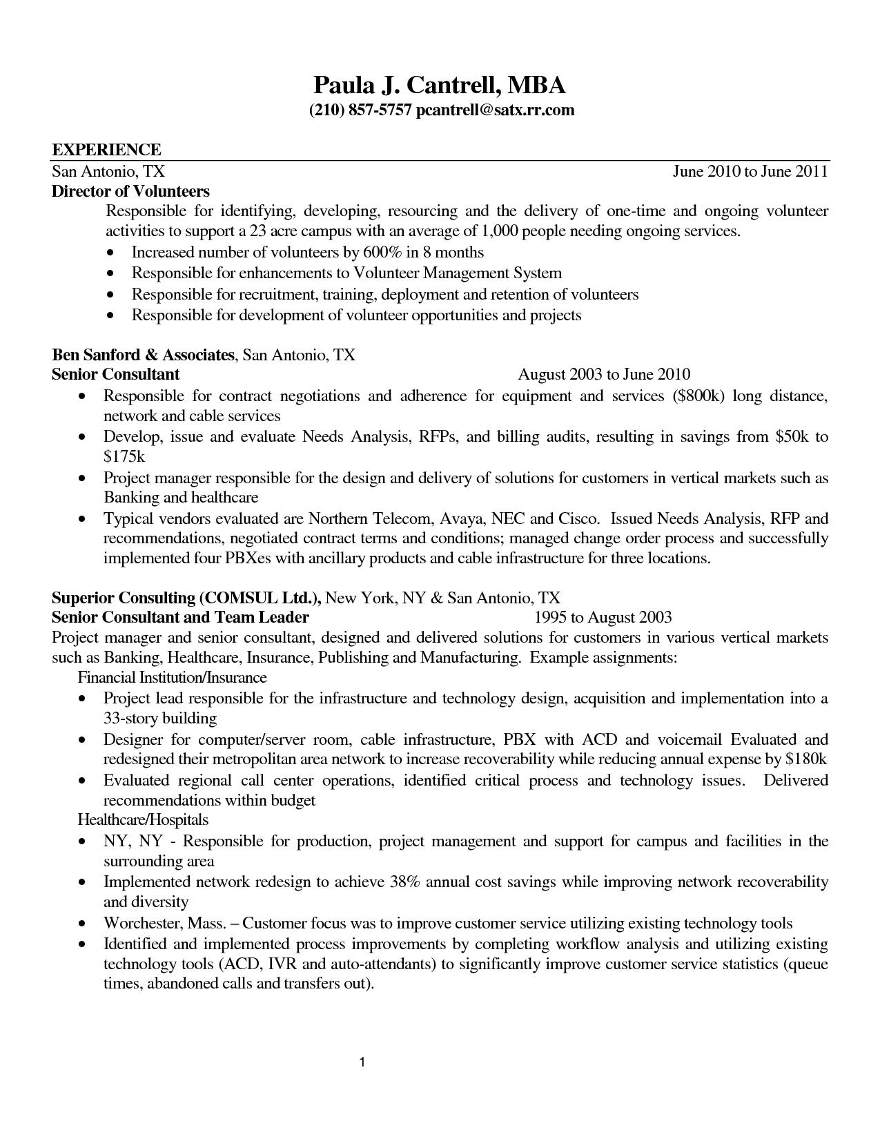Volunteer Resume Hdvolunteer Resume Business Letter Sample