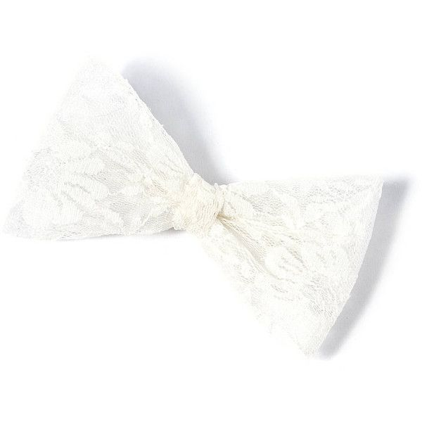 Oversized Lace Bow Hair Clip ($3) ❤ liked on Polyvore