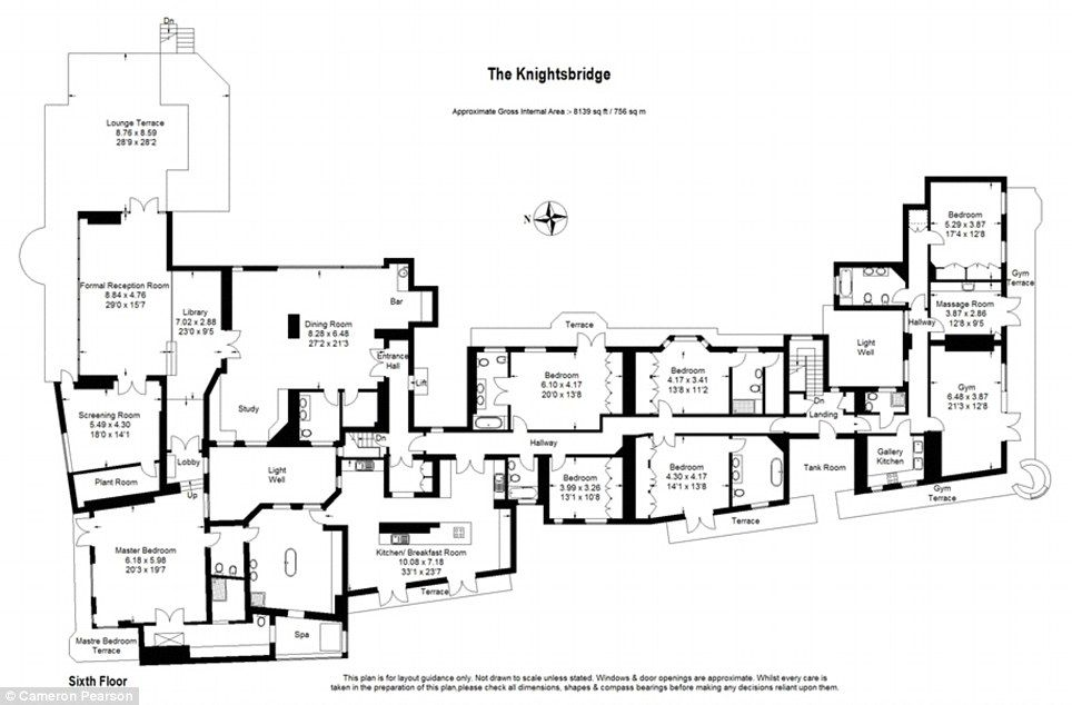 Stunning Six Bedroom Luxury Knightsbridge Penthouse At 60 000 A Week Luxurious Bedrooms Apartment Floor Plans London Rentals