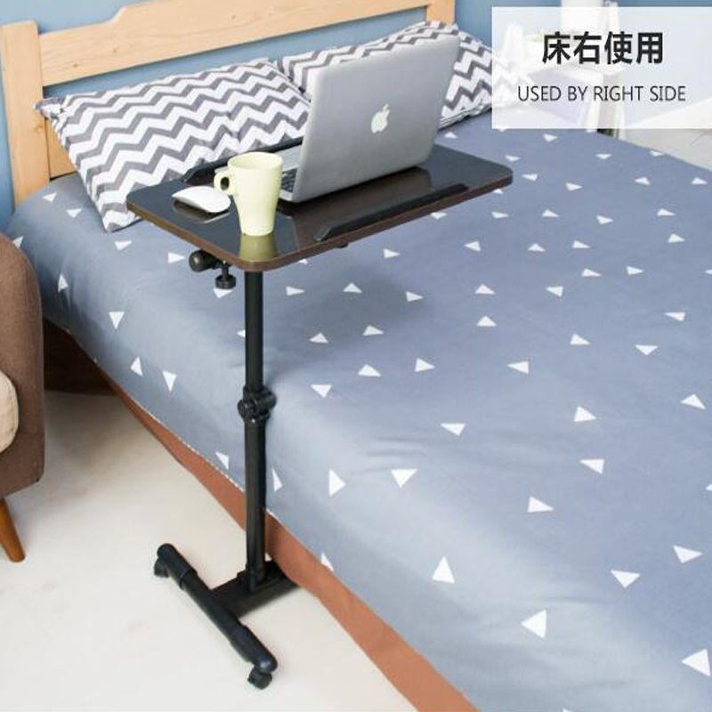 360 Degree Rotate Mobile Laptop Table Multipurpose Movable Bedside Anti Slip Height Adjule Notebook