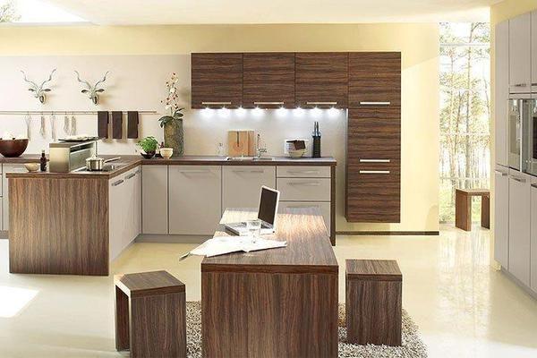 Cuisine design en bois couleur gris magic pour un style moderne et