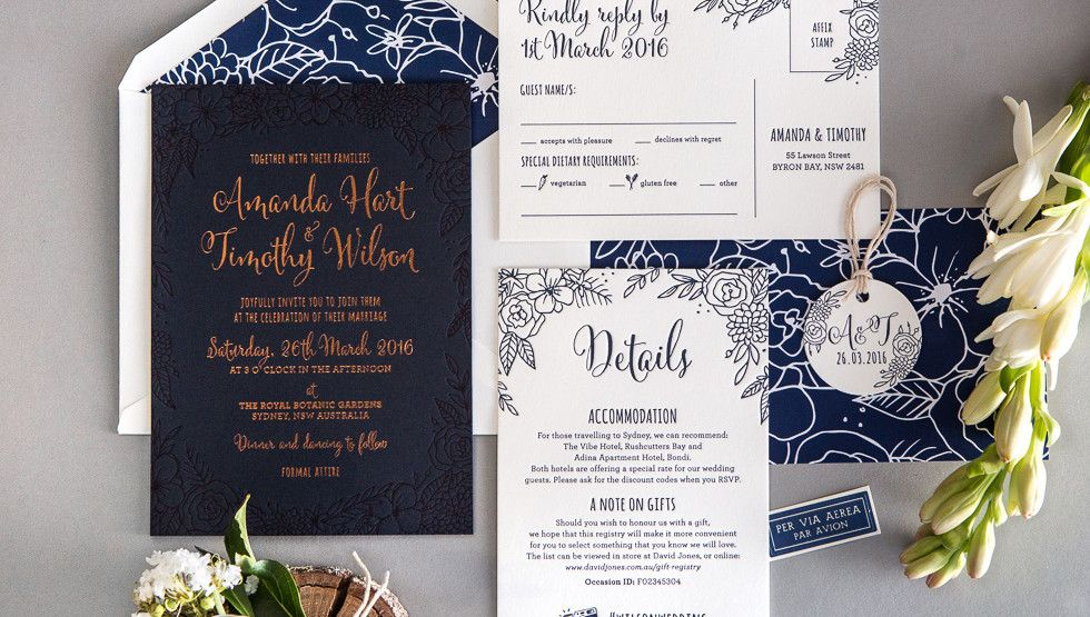 flourish wedding invites - love the font combo and colouring // the ...