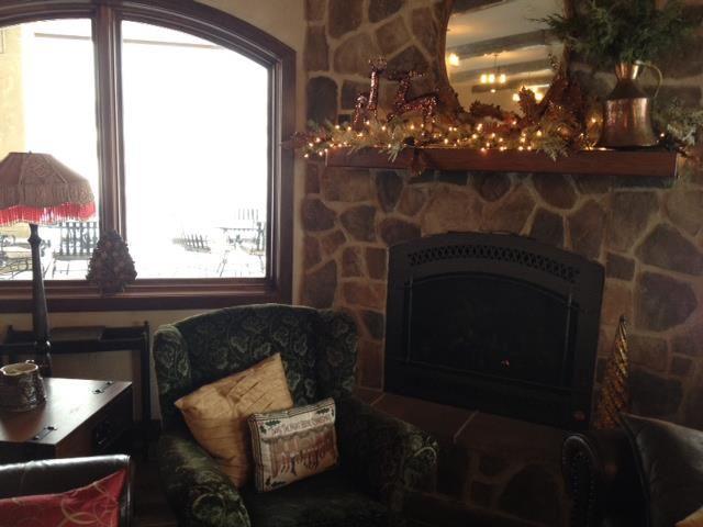 Fireplace Black Doors Home Decor Old World