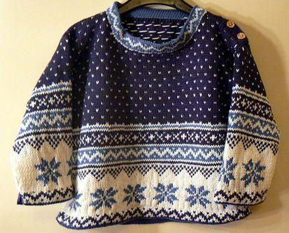 modele tricot norvegien